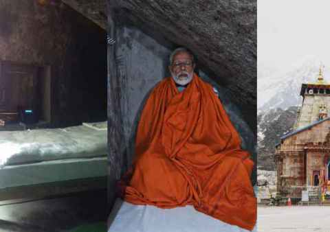 Modi inside Kedarnath cave for just Rs 990.jpg