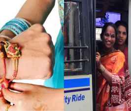 Raksha Bandhan 2019 12 lakhs ladies benefited govt free bus service.jpg