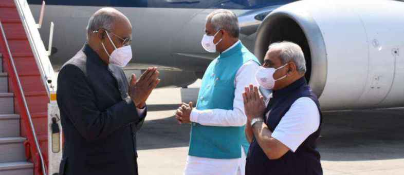 President Ram Nath Kovind on a two day visit to Gujarat, Will inauguration of world's largest stadium.jpg