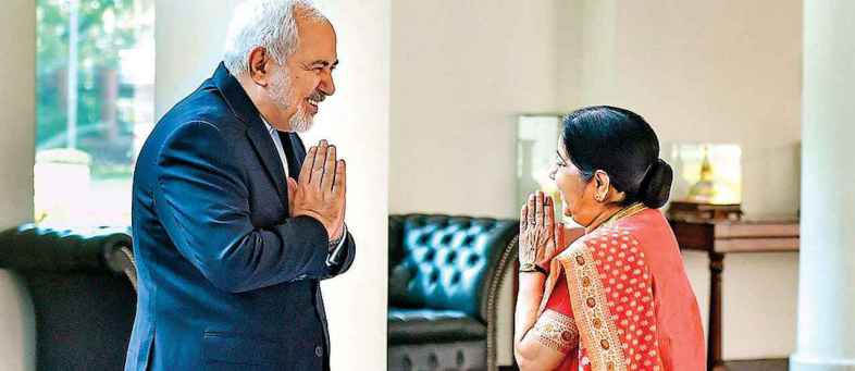 Iranian Foreign Minister on India's tour, Meet Sushma Swaraj.jpg