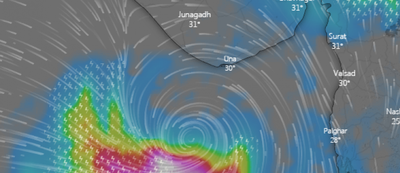 Absence of CDR in Saurashtra, kutch to restrict live tracking of Cyclone Vayu.PNG