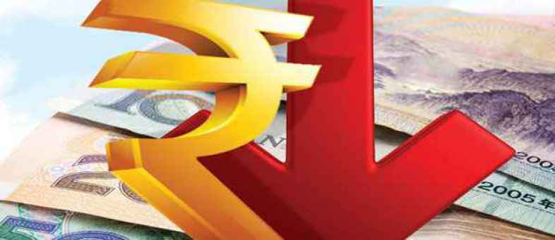 The rupee also down against a stronger dollar in global markets.jpg