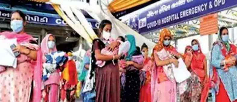 In Ahmedabad, 172 positive women were delivered, so many newborns were found infected.jpg