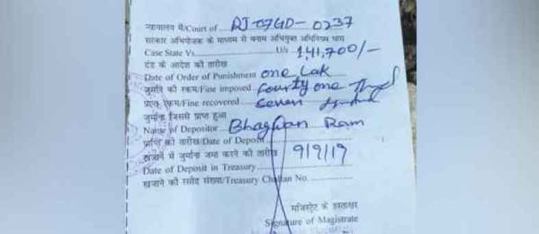 Delhi cops issue Rs 1.41 lakh challan to Rajasthan truck owner for overloading vehicle.jpg