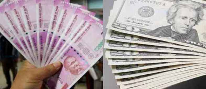Rupee softened against the dollar, falling 4 paise over the week.jpg