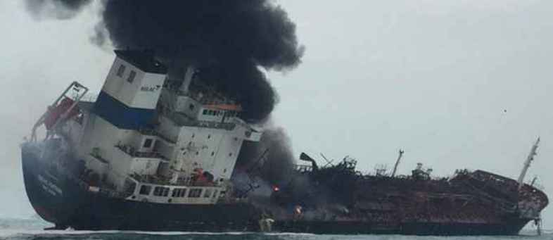 Indian Oil Corp's New Diamond VLCC catches fire off Colombo.jpg
