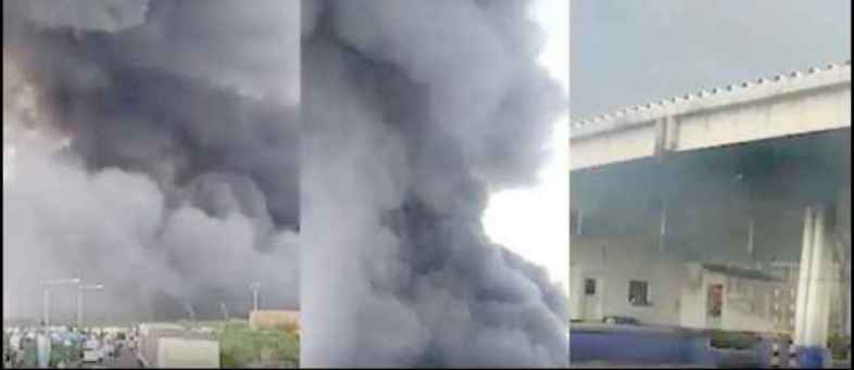 Sanand factory fire, 36 fire brigade and 270 fire soldiers arrive.jpg