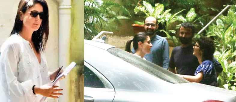 Kareena Kapoor spotted outside Aamir Khan's residence.jpg