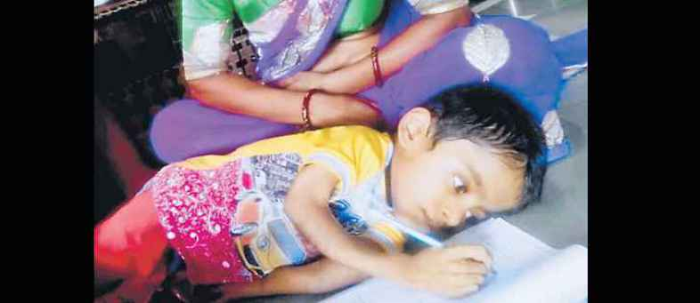 9 year old child suffering from a serious bone disease, Speaks 5 adhyay of geeta orally.jpeg