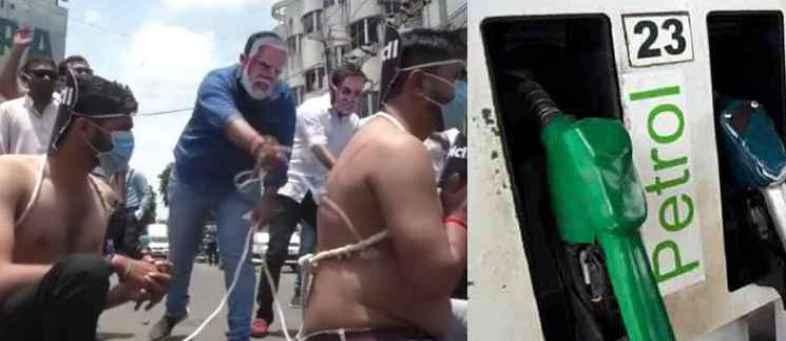 Congress workers protest over petrol-diesel price hike.jpg