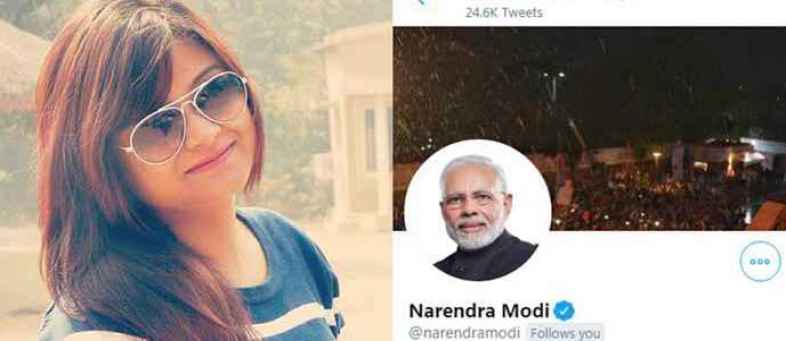 Twitter account of Kolkata girl hacked hours after PM Modi followed her among others.jpg
