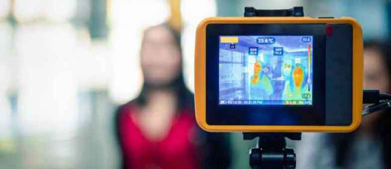 Thermal cameras were installed at Ahmedabad railway station for screening of passengers.jpg
