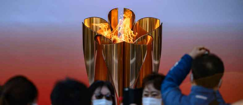 Route of the Tokyo Olympic torch was changed due to the Covid-19.jpg
